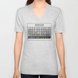 50 Shades Of Grey : Pantone Swatches - Pantone not Porn Unisex V-Neck