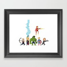 Avenging Pixels Framed Art Print