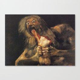 SATURN DEVOURING HIS SON - GOYA Canvas Print