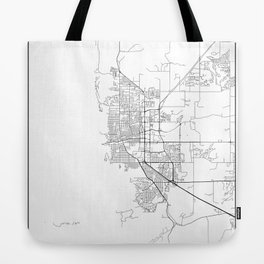 Minimal City Maps - Map Of Boulder, Colorado, United States Tote Bag