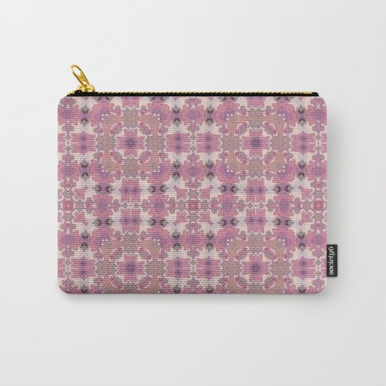 Abstract pattern in pink beige Browns . Ornament . Carry-All Pouch
