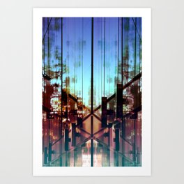 Flipped On - Abstract Geometry Photo Art Print