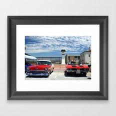 At the Car Show Framed Art Print