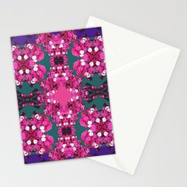 Bejeweled Floral Fuchsia Stationery Cards