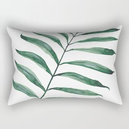 Tropical Greenery - Palm Tree Leaf Rectangular Pillow