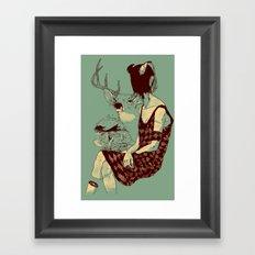Fragmented Beauty Framed Art Print