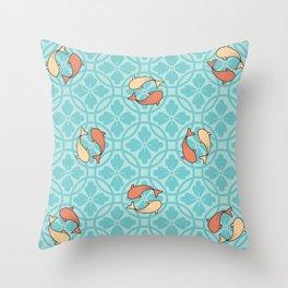 japanese carp  Throw Pillow