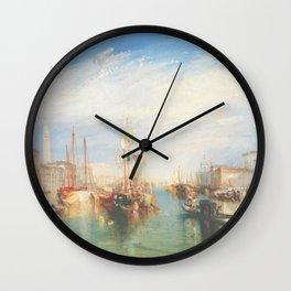 Venice from the Porch of Madonna della Salute by Joseph Mallord William Turner ca. 1835, British Wall Clock