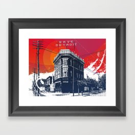 Save Detroit Framed Art Print