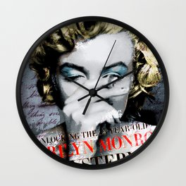 Smoking a sigarette Wall Clock