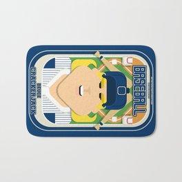 Baseball Blue Pinstripes - Deuce Crackerjack - Hazel version Bath Mat