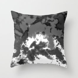 Splattered Black and White Tie Dye Throw Pillow