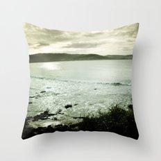 Moody Bay Throw Pillow