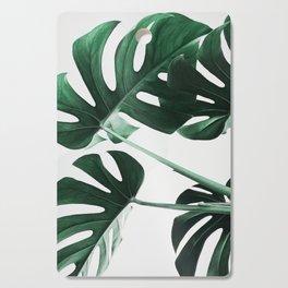 Monstera, Leaves, Plant, Green, Scandinavian, Minimal, Modern, Wall art Cutting Board