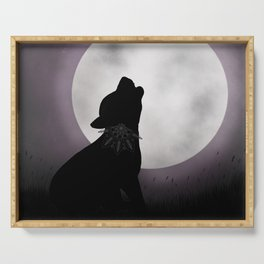 Howling at the moon Serving Tray