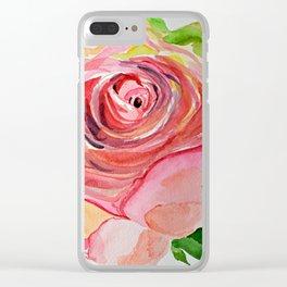 Rosebud Clear iPhone Case