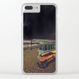 Night Summer Surf Clear iPhone Case