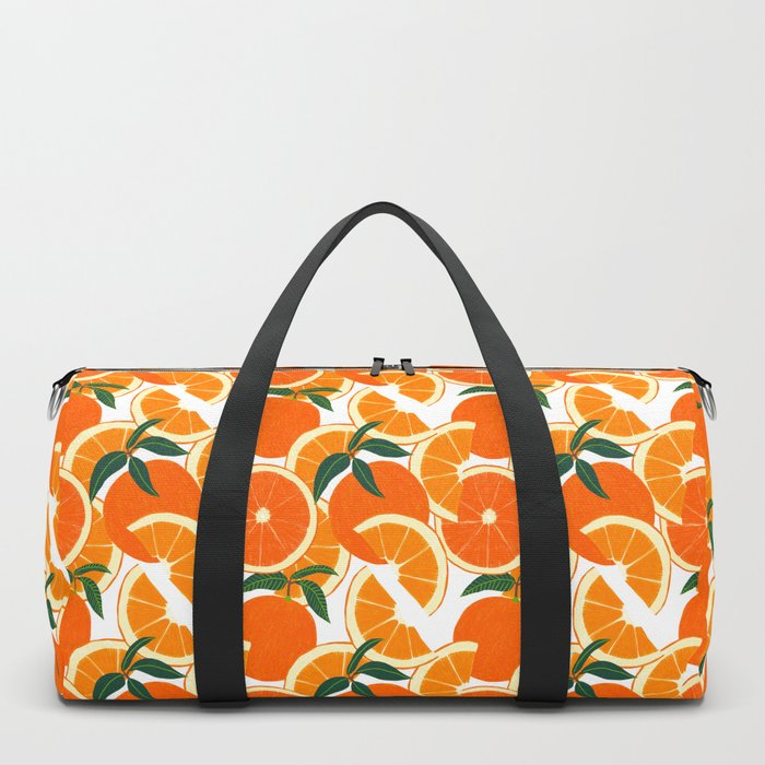 Orange Harvest - White Duffle Bag