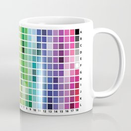 Color Chart Coffee Mug