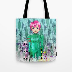 Portrait of 42 in Astro-Grunge Tote Bag