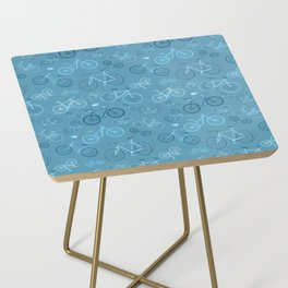 I love bikes in teal Side Table
