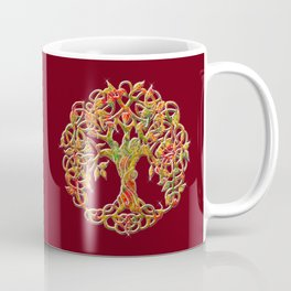 Tree of Life Maroon Coffee Mug