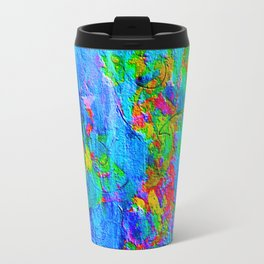 Blue Wash Jazzy Abstract Travel Mug