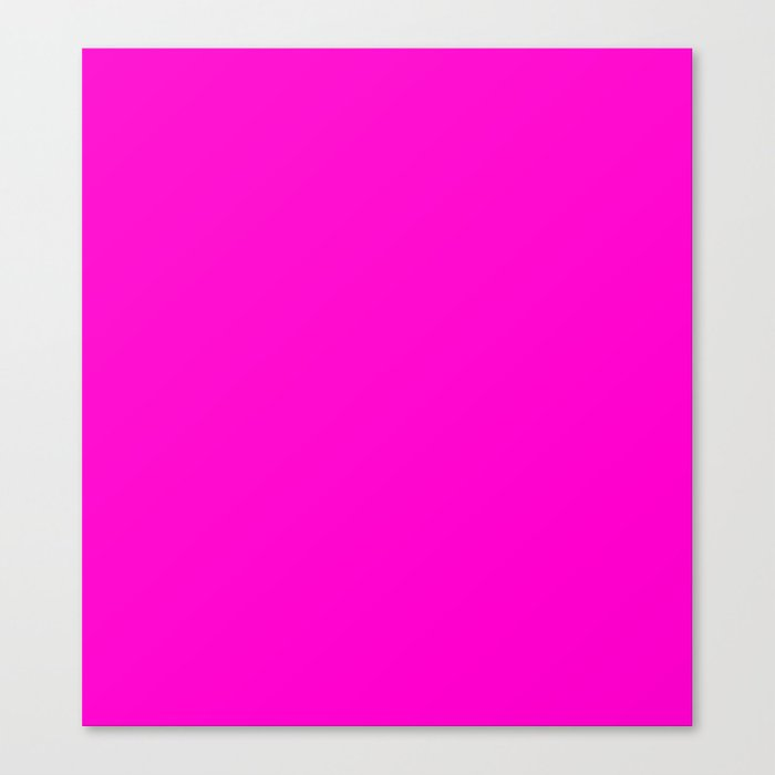 Pink Neon Color Bright Summer Canvas Print