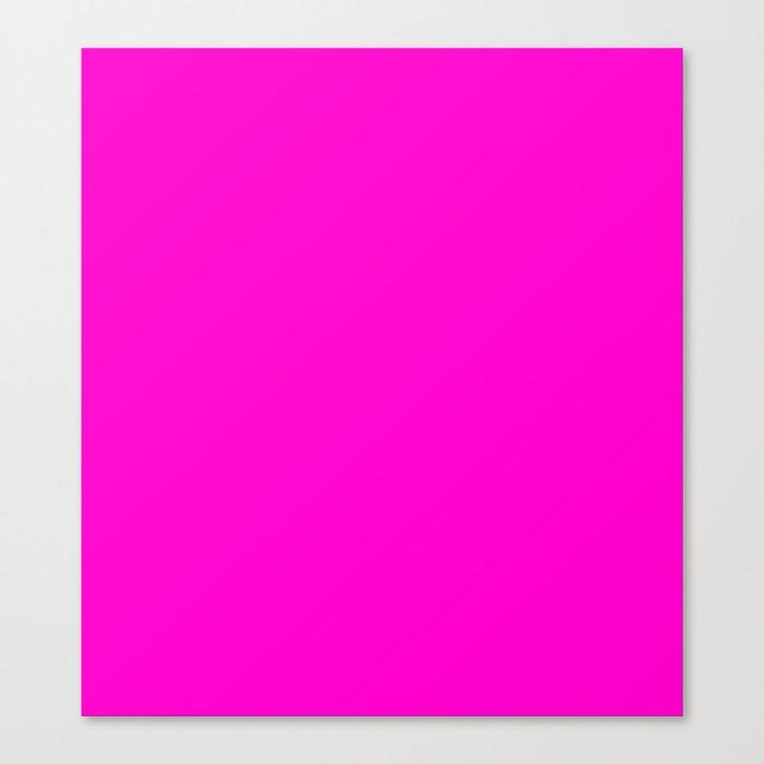Pink neon color bright summer Leinwanddruck