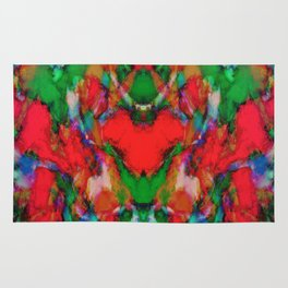 Red colour reaction Rug