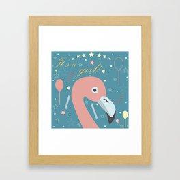 Cute Flamingo Framed Art Print