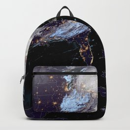 Satellite Map of USA Backpack