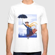 Mary Poppins MEDIUM Mens Fitted Tee White