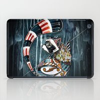 racoon iPad Cases featuring Racoon by mr. louis