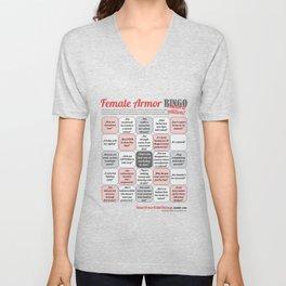 Female Armor Rhetoric Bingo Unisex V-Neck