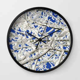 Frosted Tree Wall Clock