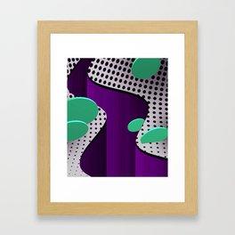 Abstract Valley Framed Art Print