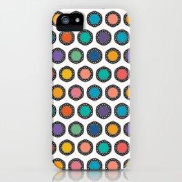 Abstract organic cut dotty circles. iPhone Case