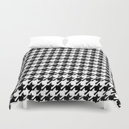 cats-tooth in black and white (houndstooth pattern) Duvet Cover