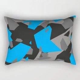 Black\Grey\Blue Geometric Camo Rectangular Pillow
