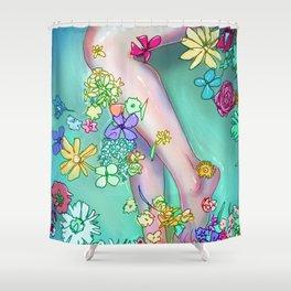 Flower Bath 2 Shower Curtain