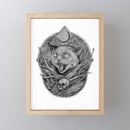 Wild cat Framed Mini Art Print