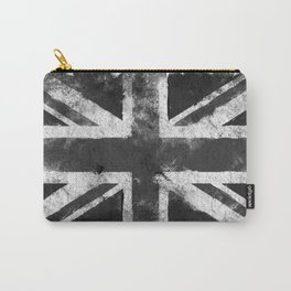 UK flag Black and White Carry-All Pouch