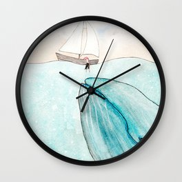 Whale watching Wall Clock