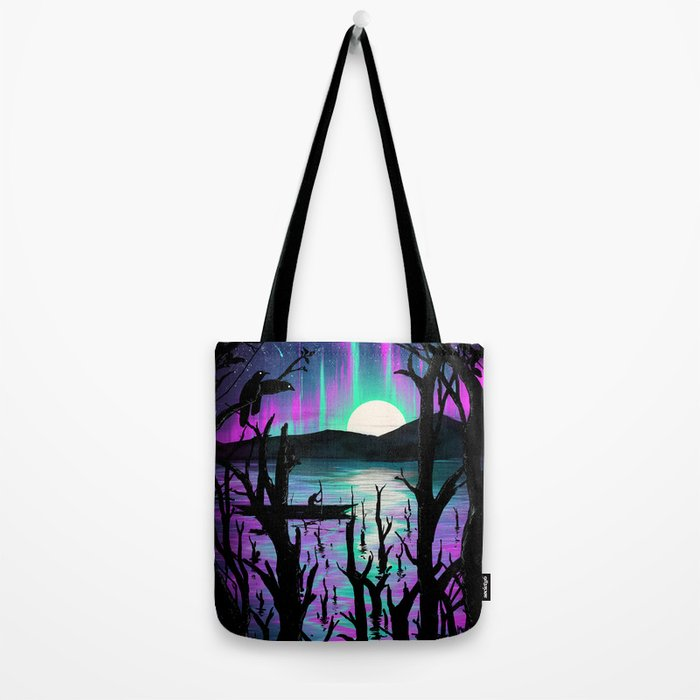 Night With Aurora Tote Bag