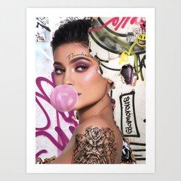 Bubblegum Punk Kylie J Art Print