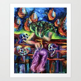 """Medusa's Grief"" Painting Art Print"