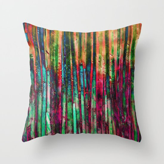 Colored Bamboo Throw Pillow