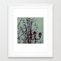 lights Framed Art Prints featuring Winter Lights by elle moss