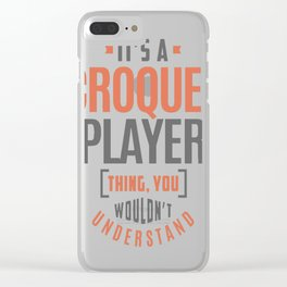Croquet-Player Clear iPhone Case